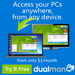 Access your PCs from anywhere for only $1/month