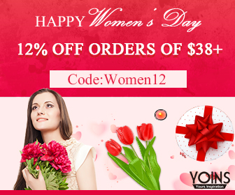 12% off $38+ for Women's Day