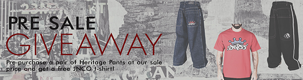 JNCO Pre Sale Giveaway - Free T-Shirt