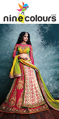 Lehengas online shopping exclusive collection at ninecolours.com