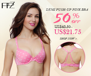 300x250 Flash Sale! 50% OFF, US$21.75 for PPZ Demi Classic Push-up Bra Micro Comfortable Pink