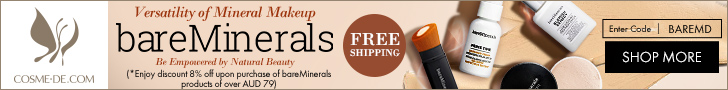 bareMinerals.Versatility of Mineral Makeup.Be Empowered by Natural Beauty.Enjoy discount 8% off upon purchase of bareMinerals products of over AUD79. Enter Code: BAREMD.[Shop NOW]
