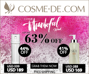 Up to 63% OFF!?COSME Thankful Week!?12 HOTTTTEST Beauty Essentials.GRAB them NOW!