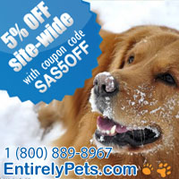 enjoy 5% off site wide at EntirelyPets.com from january 1st 2013 to january 31st 2013