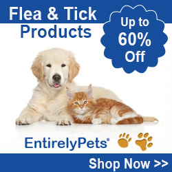 Up to 60% Off selected Flea and Tick products at EntirelyPets.