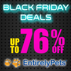 Black Friday deals up to 76% off at Entirelypets.com
