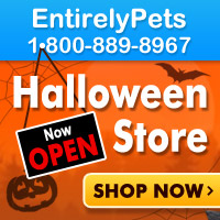 EntirelyPets Halloween Store is now Open. Pet costumes, toys, treats, safety products all in one place