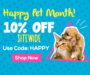 Celebrate Happy Pet Month with 10% OFF Sitewide