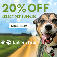 20% Off Select Pet Supplies at EntirelyPets