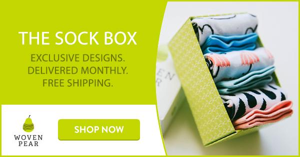 Woven Pear Sock Box