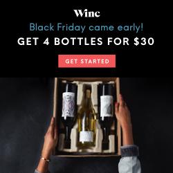 Winc - Get 4 Bottles for $30