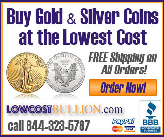 Buy gold & silver coins at the lowest cost