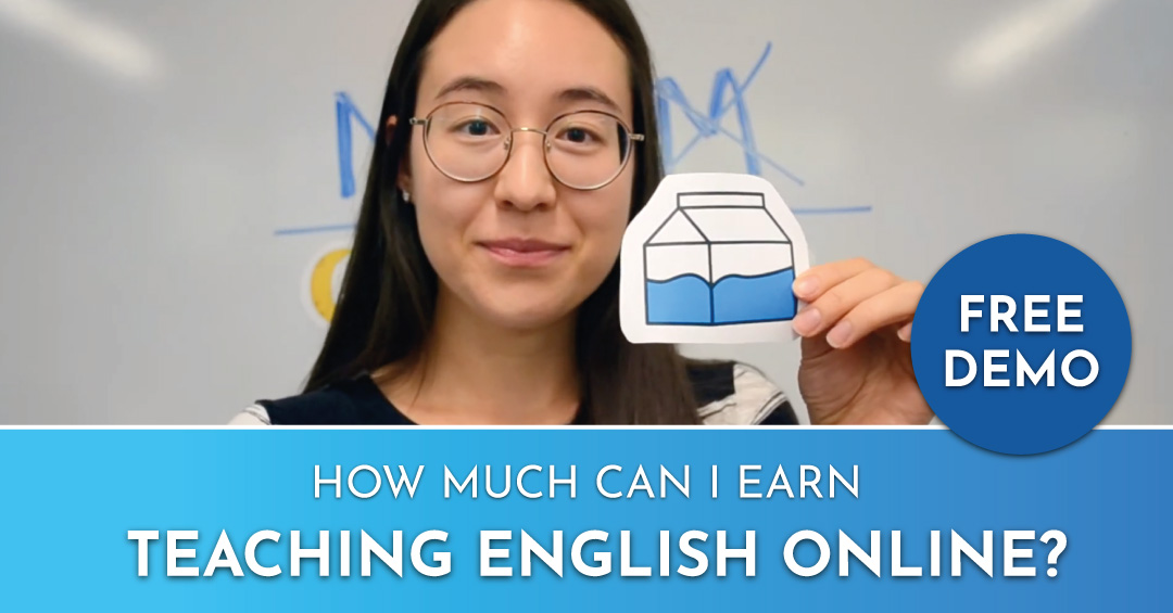 """Free Demo offer that says """"How much can I earn teaching English online?"""" An excellent way to work at home"""