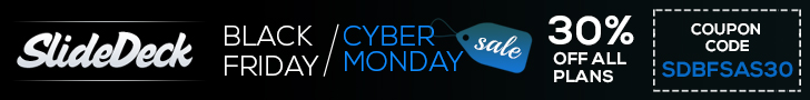 SlideDeck3 Black Friday / Cyber Monday 30% Off