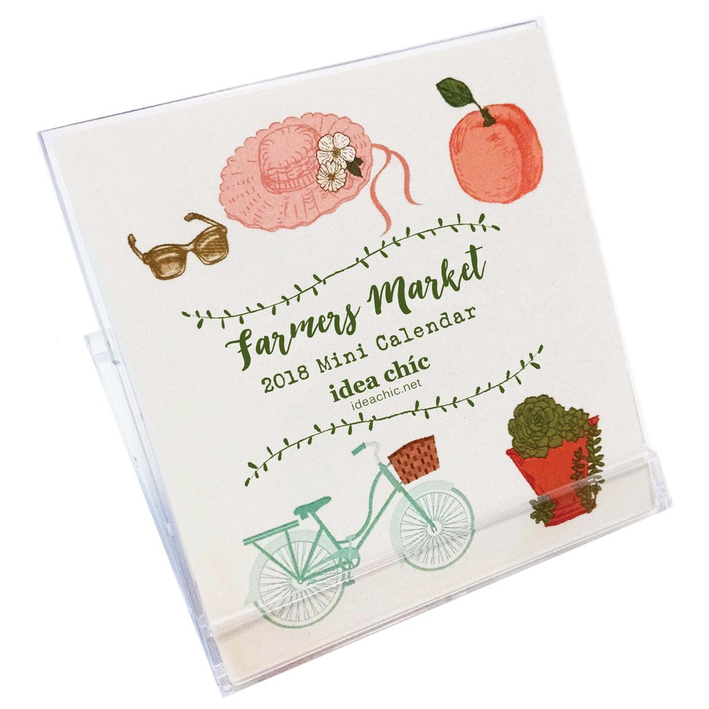 Farmers Market Mini Desk Calendar