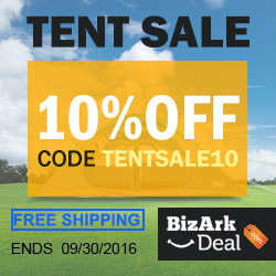 Tent sale. All enjoy 10% off, code TENTSALE10. Plus free shipping. Ends 9/30/2016.