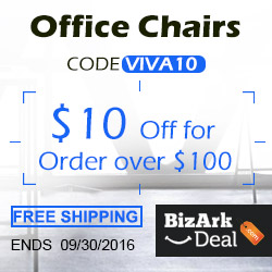 Office chairs! $10 off on orders $100+, code VIVA10. Free shipping. Ends 9/30/2016.