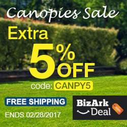 Canopies 5% off, free shipping. Use code CANPY5.