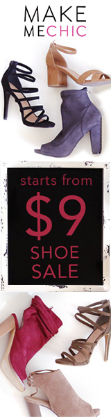 Shoe Sale!  Shoes starting at just $9 at MakeMeChic.com.  Sale ends Aug 19th