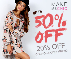 Save up to 50% off + another 20% off with code MMC20 at MakeMeChic.com! Ends 6/30