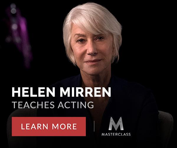 Helen Mirren teaches acting, Masterclass.