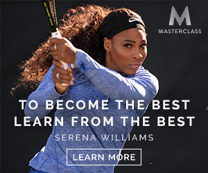 TO BECOME THE BEST, LEARN FROM THE BEST. SERENA WILLIAMS TEACHES TENNIS. LEARN MORE.
