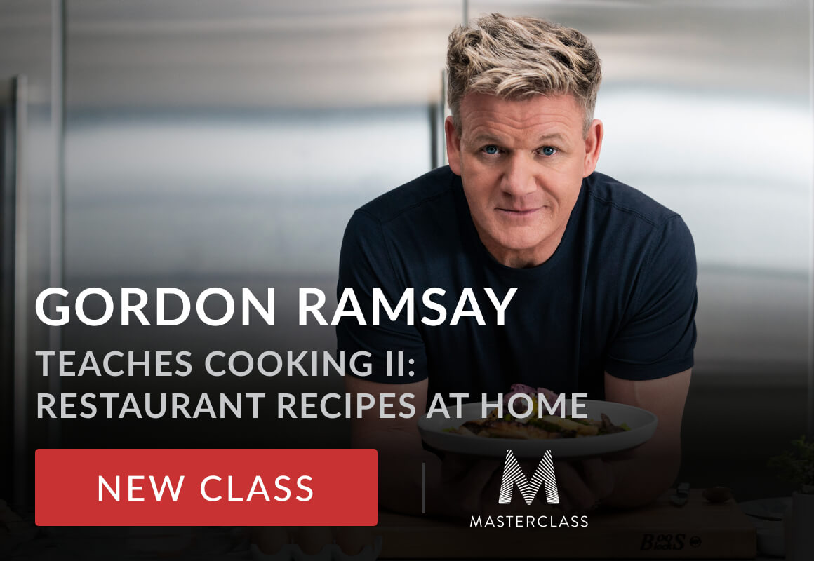 gordon ramsey and text that says gordon ramsay teaches cooking : restuarant recipes at homeII