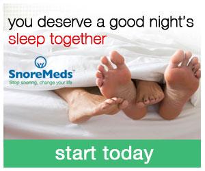 SnoreMeds - you deserve a good night's sleep together