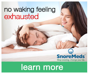 SnoreMeds - no waking feeling exhausted