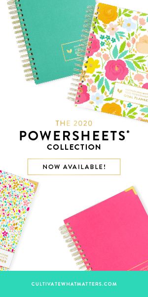 Powersheets 2020 goal planner