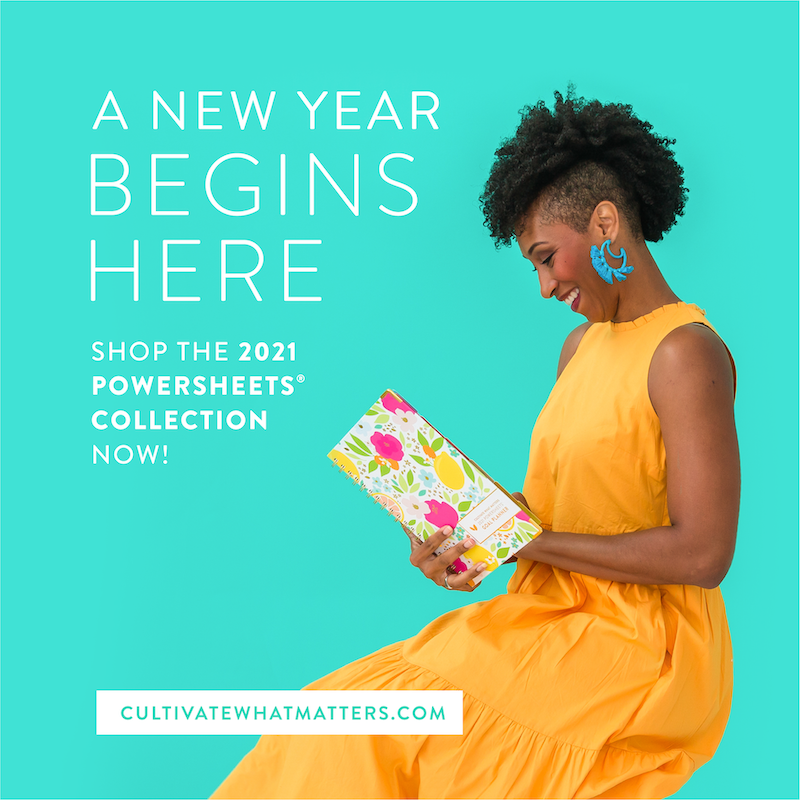 New Year's resolutions for freelancers #1: Set SMART goals with the Powersheets intentional goal planner from cultivate what matters