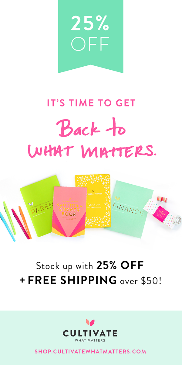 Back to What Matters Sale