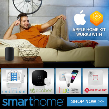 Smarthome Apple HomeKit 'works with' - shop now!
