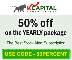 kcapitalstockalerts.com - 50% Off on the Yearly Package