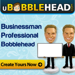 Display Business Cards in Style with Unique Business Card Bobbleheads at uBobblehead.com