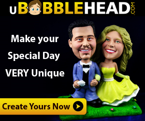 Create your custom Wedding Bobbleheads Today!