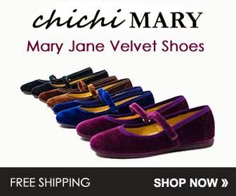 Chichi Mary Jane Velvet Shoes