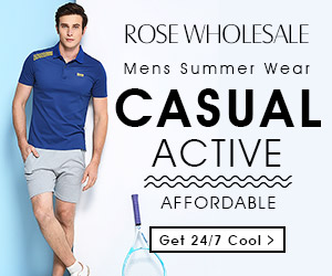 Be a real man! Huge sales in summer for men's style with tops, bottoms, hats, and jewelry.