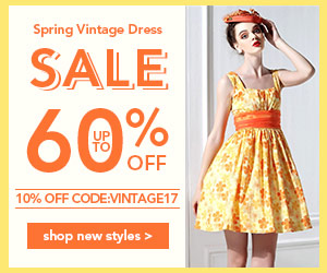 Spring Vintage Dresses Sale: Up to 60% OFF + Extra 10% OFF Coupon: VINTAGE17.