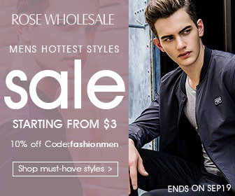 """Use the coupon code """"FASHIONMEN"""" at Rosewholesale for your enjoy!"""