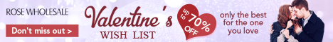 RoseWholesale Discount Code for Valentine's Day. Shop Now!
