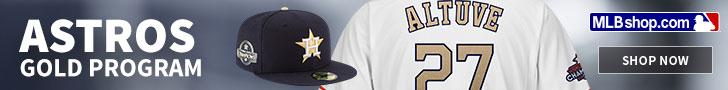 Shop the Houston Astros Gold Program at MLBShop.com