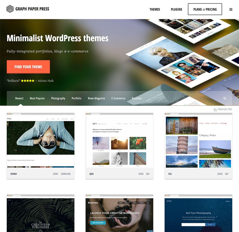WordPress themes by Graph Paper Press