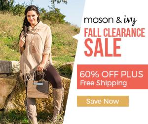 Mason & Ivy 60% Off Fall Clearance