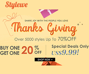 Stylewe Thanksgiving 300*250