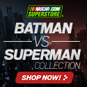 It's Batman (Dale Jr) vs Superman (Jimmie Johnson) on the NASCAR track - grab the gear at Store.NASCAR.com
