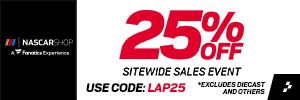 Save up to 60% in the NASCAR Store Outlet