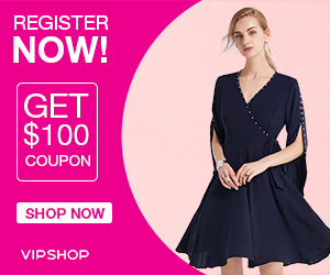 Register now and get $100 in Coupons from VIP.com *Limited Time Only*