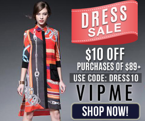 Dress Sale! Save $10 off $89 purchase with code DRESS10 at VIPme.com - Ends 10/30