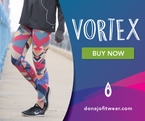 printed compression legging for women in vortex by donajofitwear